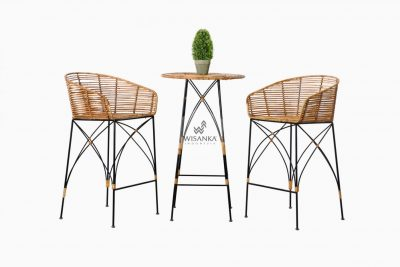 Natural Rattan Cirebon Chloe Bar Set | Natural Rattan Furniture } Natural Rattan Indonesia | Indonesia Rattan