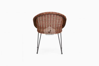 Twist Rattan Chair back view