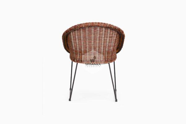 Twist Rattan Chair back view
