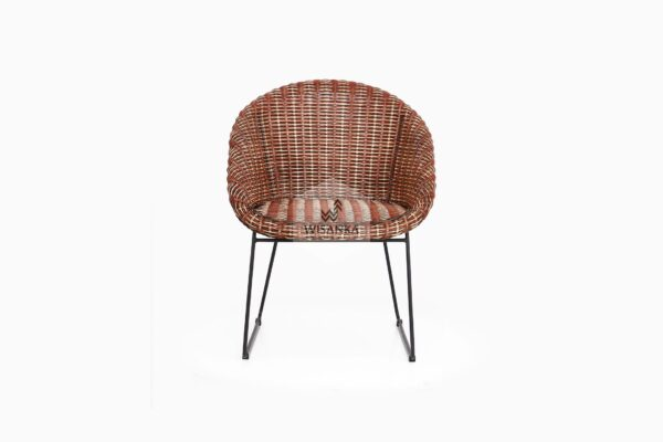 Twist Rattan Chair front view