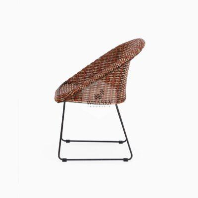 Twist Rattan Chair side view