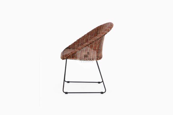 Twist Rattan Chair side view