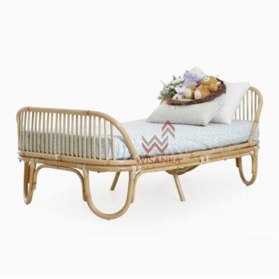 Farel-Toddler-Bed | Farel-Natural-Rattan-Toddler-Bed | Natural Rattan Todler Bed | Todler Bed | Rattan Todler Bed