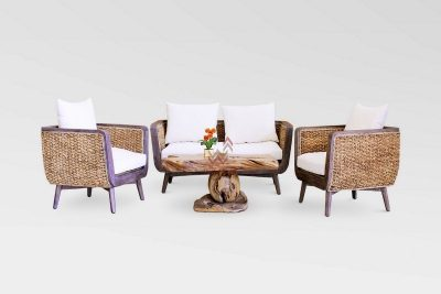 Belladona Rattan Living Set | Belladona Wicker Living Set | Belladona Waterhyacinth Living Set | Belladona Natural Rattan Living Set