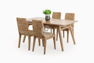 Bione Rattan Dining Set | Bione Wicker Rattan Dining Set | Bione Dining Set | bione Natural Rattan Dining Set