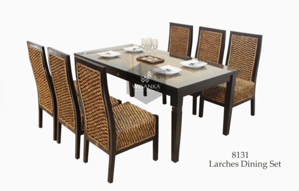 Larches wicker rattan dining set | Rattan Dining table | Rattan dining chair