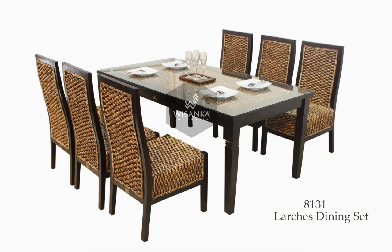 Larches Wicker Rattan Dining Set