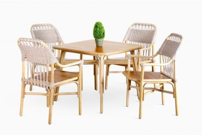 Rancangan-Dining-Set | Rancangan Rattan Dining Set | Wicker Dining Set | Dining Table with Dining Chair