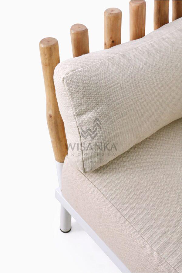 Alexa Wooden Arm Chair Detail