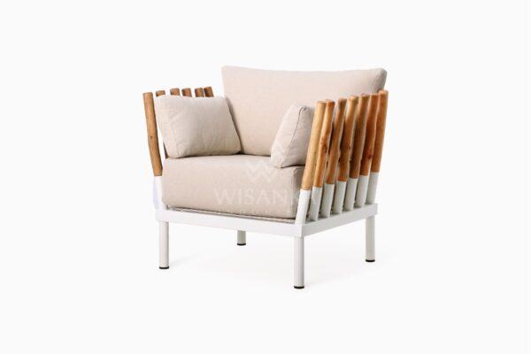 Alexa Wooden Arm Chair perspective