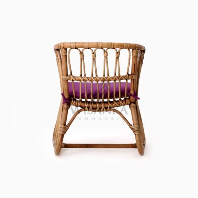 Fly Kid's Natural Rattan Chair with Cushion rear