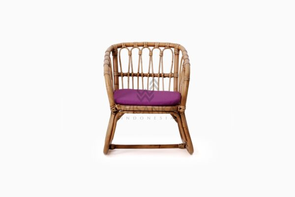 Fly Kid's Natural Rattan Chair with Cushion front
