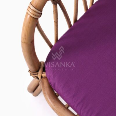 Fly Kid's Natural Rattan Chair with Cushion detailed