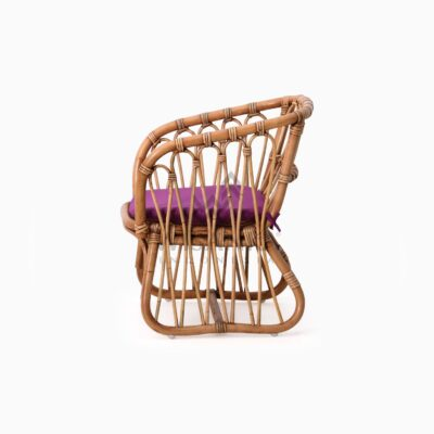 Fly Kid's Natural Rattan Chair with Cushion side