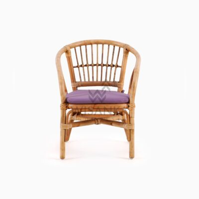 Jimmy Kid's Chair Natural Rattan with cushion front