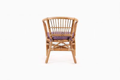 Jimmy Kid's Chair Natural Rattan with cushion rear