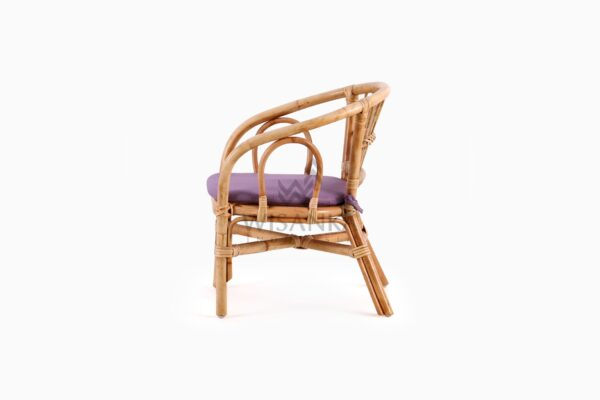 Jimmy Kid's Chair Natural Rattan with cushion side
