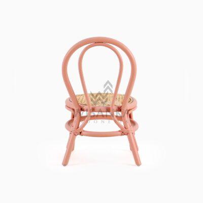 Kala Kid's Natural Rattan Chair rear