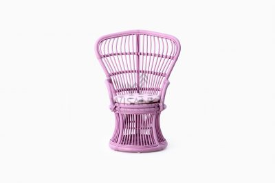 Makhuta Kid's Rattan Arm Chair With Cushion front