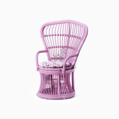 Makhuta Kid's Rattan Arm Chair With Cushion perspective