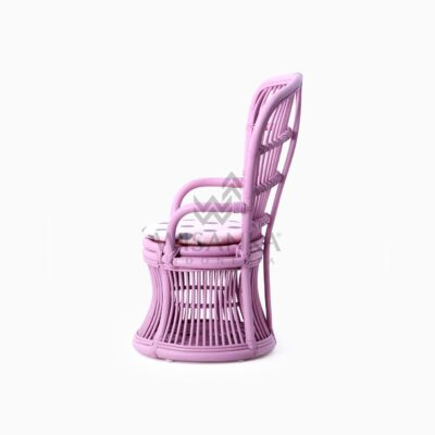 Makhuta Kid's Rattan Arm Chair With Cushion side