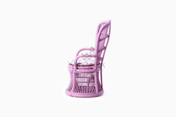 Makhuta Kid's Rattan Arm Chair With Cushion side