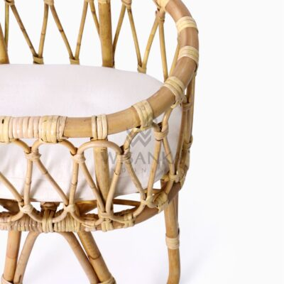 Masha Baby Doll wicker Bassinet with Cushion detail
