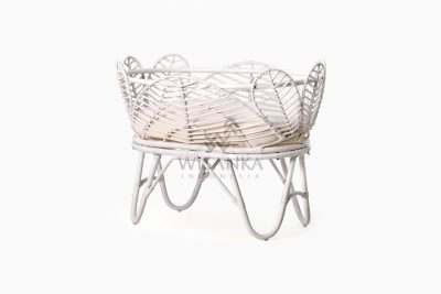 Nada Baby Wicker Bassinet with Cushion perspective