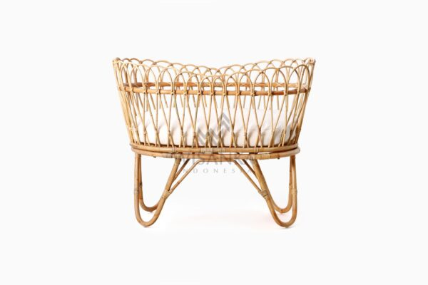 Rima Baby Wicker Bassinet with cushion front