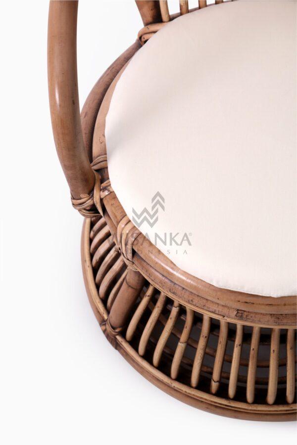 Tiara Kid's Wicker Rattan Arm Chair With Cushion detail