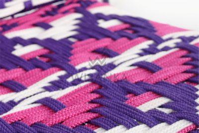 Kora Bohemian wicker Dining Chair - Multistrips Indoor Purple detail 2