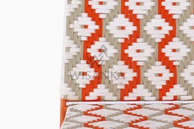 Kora Bohemian Dining Chair - Multistrips Indoor Orange Detail 1