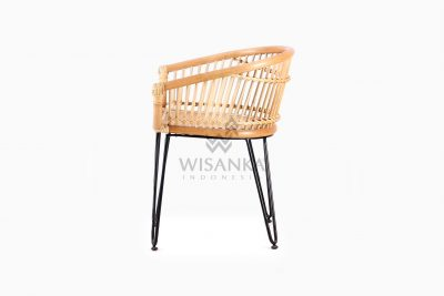 Kuga natural rattan wicker Dining Chair side