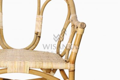 Maura Occasional Rattan Wicker Chair Detail 1