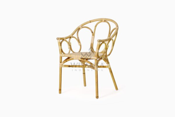 Maura Occasional Rattan Wicker Chair perspective