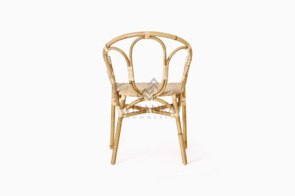 Maura Occasional Rattan Wicker Chair rear
