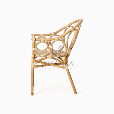 Maura Occasional Rattan Wicker Chair side