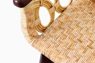 Maureen Occasional Natural Rattan Wicker Chair Detail
