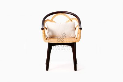 Maureen Occasional Natural Rattan Wicker Chair front