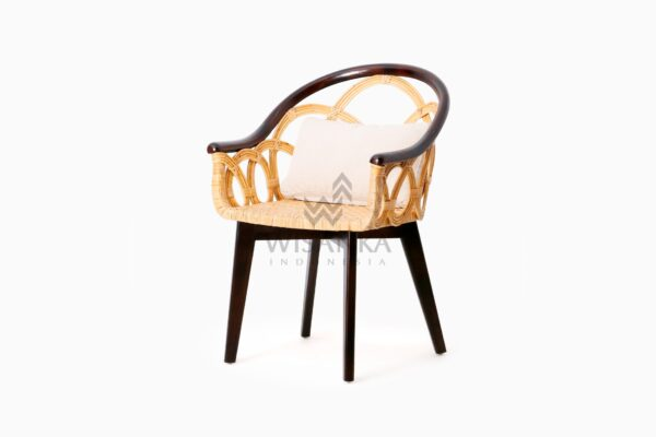 Maureen Occasional Natural Rattan Wicker Chair perspective