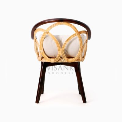 Maureen Occasional Natural Rattan Wicker Chair rear