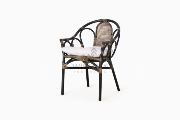 Naira Occasional Rattan Wicker Chair perspective