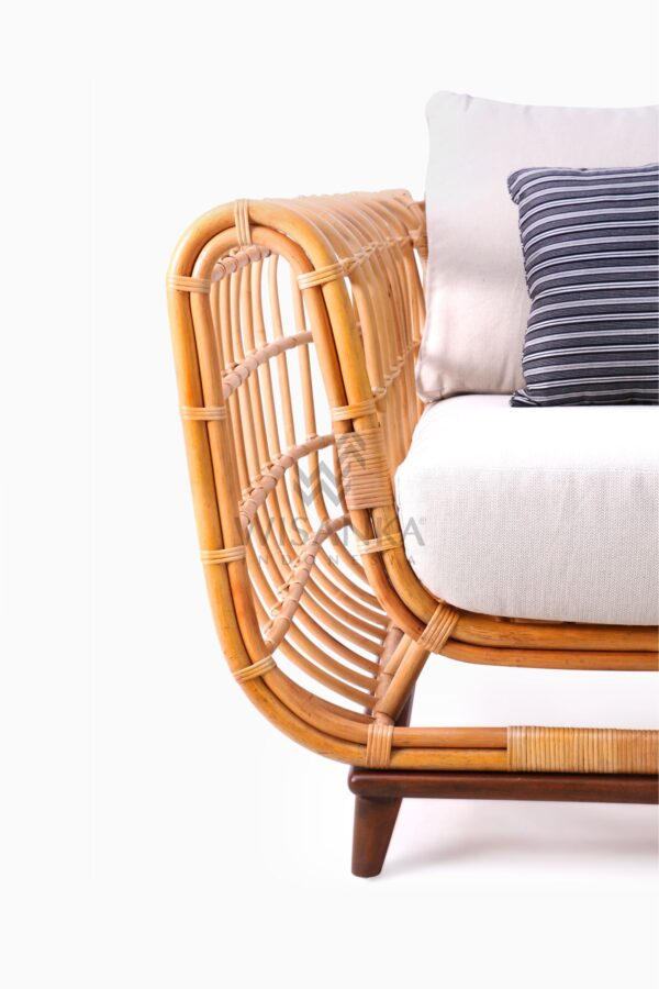 Siena wicker rattan natural 1 Seater Living Chair Detail