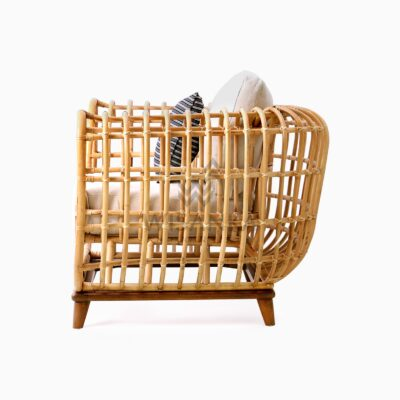 Siena wicker rattan natural 1 Seater Living Chair side