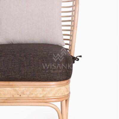 Tyne Rattan Wicker Sofa 1 Seater Detail 1