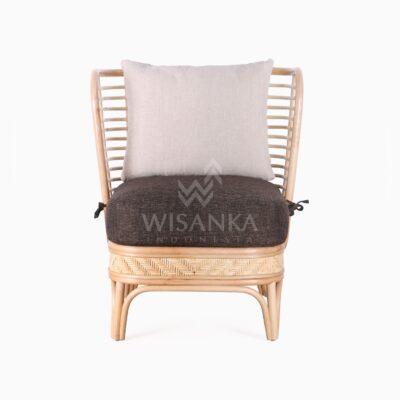 Tyne Rattan Wicker Sofa 1 Seater front