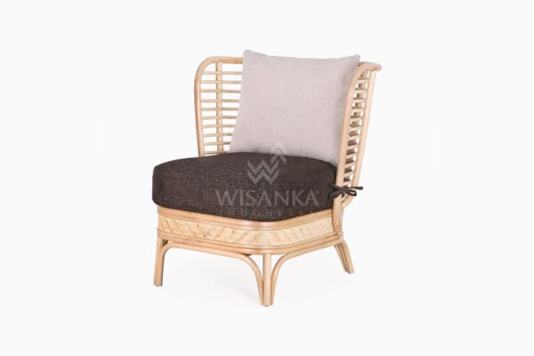Tyne Rattan Wicker Sofa 1 Seater perspective