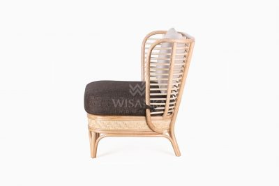 Tyne Rattan Wicker Sofa 1 Seater side