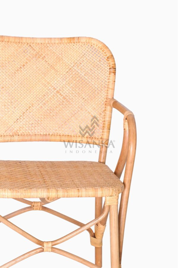 Vivi Wicker Rattan Natural Chair Detail 1