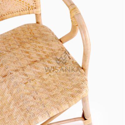 Vivi Wicker Rattan Natural Chair Detail 2
